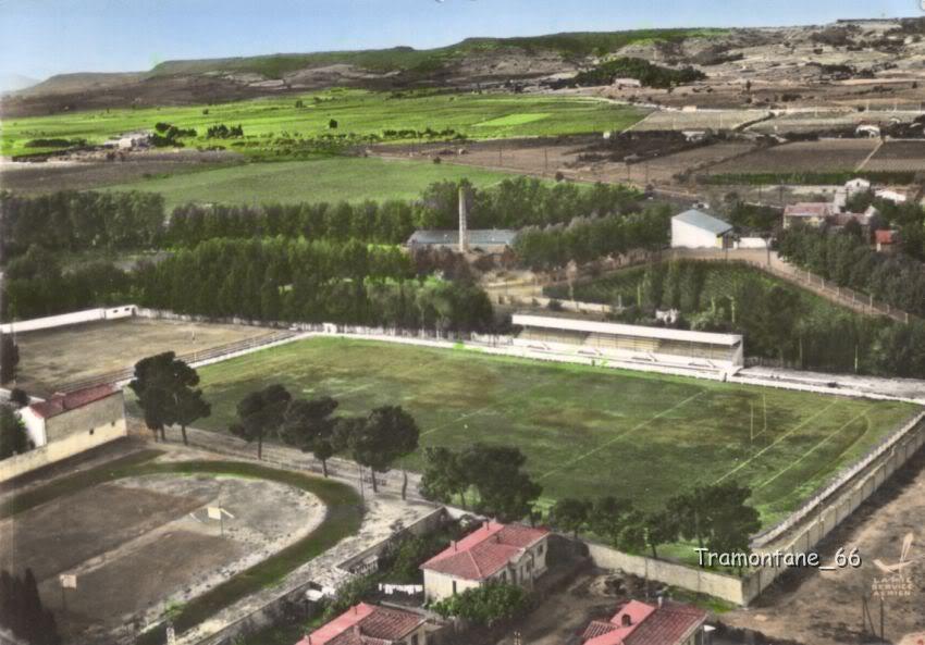 Stade Moulin Vue aerienne - rugby lézignan corbières